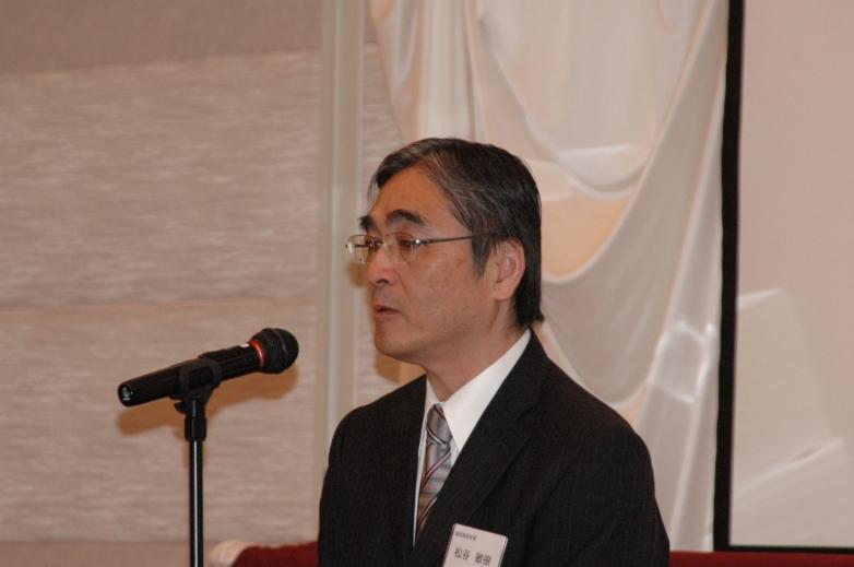 ご来賓挨拶 福岡高校校長 松谷敏樹さん